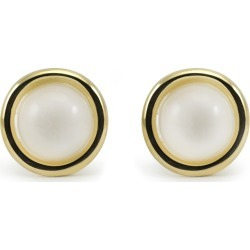 Vintouch Italy - Satellite Gold Vermeil Moonstone Stud Earrings found on Bargain Bro from Wolf & Badger US for USD $67.64