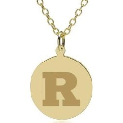 Rutgers 14K Gold Pendant and Chain