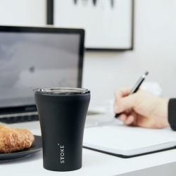 Stainless steel and ceramic reusable black coffee cup found on Bargain Bro India from hardtofind.com.au for $46.36