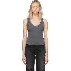 Amo Grey Rib Crop Tank Top found on MODAPINS from ssense asia-pacific for USD $38.82