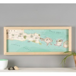 Personalised Bali Hand-Drawn Map Location Print
