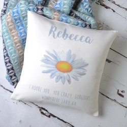 Daisy Personalised Cushion