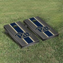 Pittsburgh Panthers Cornhole Game Set Onyx Stained Stripe