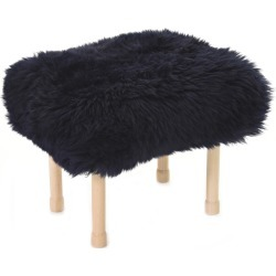 Megan - Sheepskin Footstool Navy found on Bargain Bro UK from Clippings