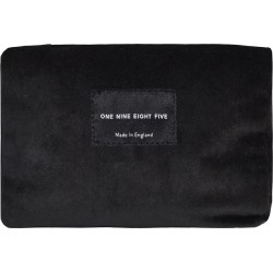 ONE NINE EIGHT FIVE - Black Velvet Zip Pouch Small found on Bargain Bro UK from Wolf and Badger