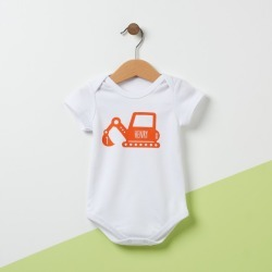 Personalised Digger Baby Bodysuit found on Bargain Bro from hardtofind.com.au for USD $22.78