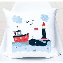 Nautical personalised cushion