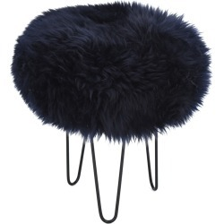 Gracie - Sheepskin Footstool Navy found on Bargain Bro UK from Clippings