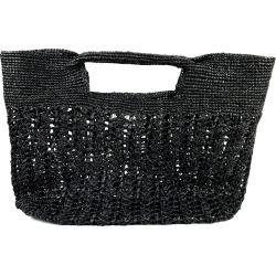 MARAINA LONDON - Ines Odette Raffia Beach Bag Black found on MODAPINS from Wolf & Badger US for USD $238.00