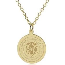 Carnegie Mellon 14K Gold Pendant and Chain