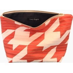 Lucy Engels - Rita - Quilted Makeup Bag - Red Pale Pink found on Bargain Bro UK from Wolf and Badger