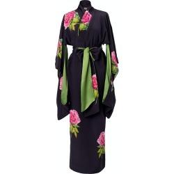 Castlebird Rose - Maxi Silk Kimono Night Blue found on MODAPINS from Wolf & Badger US for USD $868.00