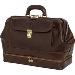 Hippocrates genuine leather chocolate doctors bag