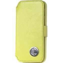 Drew Lennox - iPhone SE 5 5S Luxury English Leather Phone Wallet with 3 Card Slots in Lemon Lime Green found on Bargain Bro from Wolf and Badger for £50