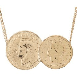 Katie Mullally - American / English Double Rose Gold Plated Coin Necklace found on MODAPINS from Wolf & Badger US for USD $262.00