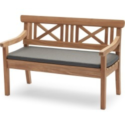 Drachmann Bench with Cushion Teak 120 Charcoal