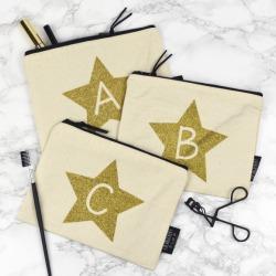 Glitter Letter Make Up Bag