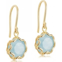 Astley Clarke - Paloma Milky Aquamarine Drop Earrings found on MODAPINS from Wolf & Badger US for USD $241.00