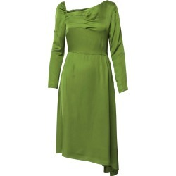DALB - Flutter Asymmetric Pesto Dress With Front Pleats found on MODAPINS from Wolf & Badger US for USD $396.00