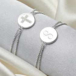 Girl's Personalised Angel of Mine Cross Bracelet
