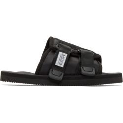 Suicoke Black Kaw-Cab Sandals