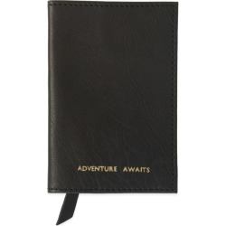 VIDA VIDA - Adventure Awaits Black Leather Passport Cover found on Bargain Bro UK from Wolf and Badger