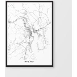 Hobart minimalist map print