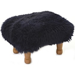 Anwen - Sheepskin Footstool Navy found on Bargain Bro UK from Clippings