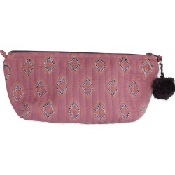 Graymarket Design - Essa Rose Block Printed Makeup Pouch found on MODAPINS from Wolf & Badger US for USD $16.00