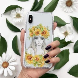 Impact Protective Case for iPhone X sunflower girl