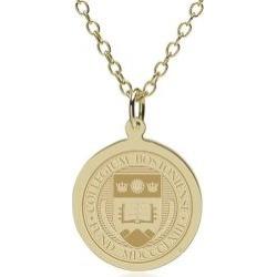 Boston College 14K Gold Pendant and Chain