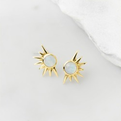 Gold total eclipse studs