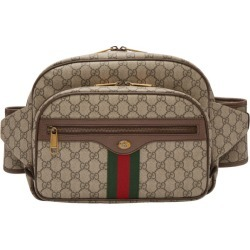 ba440661f69 Gucci Brown GG Supreme Ophidia Belt Bag found on MODAPINS from ssense asia- pacific for