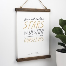Motivational Shakespeare Print - It Is Not In The Stars