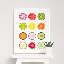 Fruit and Vegetable Print