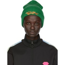 Off-White Green Bubble Font Beanie