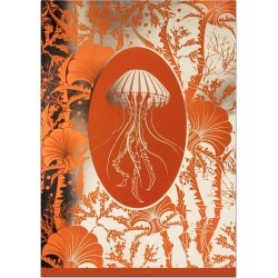 The Curious Department - Elemental Jellyfish: Orange Gold Print