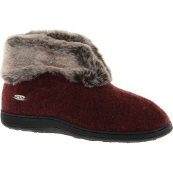 Acorn Women's Chinchilla Bootie II Red Slipper S Size 5-6 M found on Bargain Bro from Shoemall.com for USD $41.76