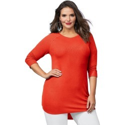 The Ultimate Lounge Tunic Orange Knit Tops S