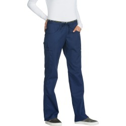Cherokee Medical Uniforms LUXE SPORT Mid Rise Draw Pant Navy Pants 5X-Regular