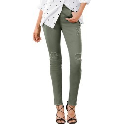 Destructed Colored Skinny Jean Green Pants 24W-Regular
