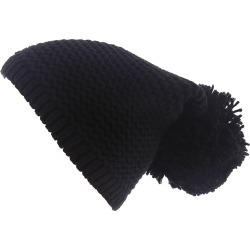 UGG Women's Chunky Knit Beanie w/Pom Black Hats One Size