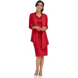 Sheath Dress with Jacket Red Sets 22W found on Bargain Bro from Shoemall.com for USD $60.76