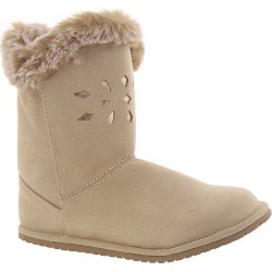 Baby Deer Boot with Chopouts & Faux Fur Trim Girls' Infant-Toddler Tan Boot 11 Toddler M found on Bargain Bro India from Shoemall.com for $24.99