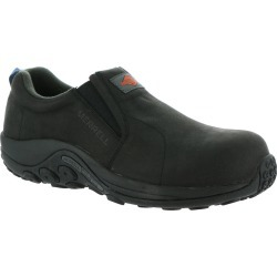 Merrell Work Jungle Moc Leather Comp Toe Men's Black Slip On 11 M
