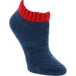 Free People Women's Two Tone Cozy Ankle Sock Blue Socks One Size