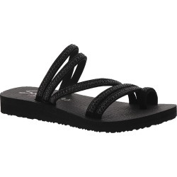 Skechers Cali Meditation Glam Flash Women's Black Sandal 7 M found on Bargain Bro Philippines from Shoemall.com for $39.95