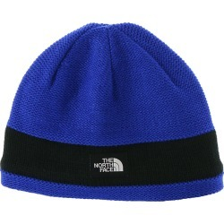 The North Face Kids' Logo Stripe Beanie Blue Hats One Size