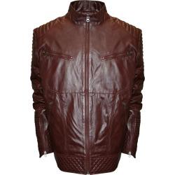 Franchise Club Men's Raw X MOTO Leather Jacket Burgundy Jackets L