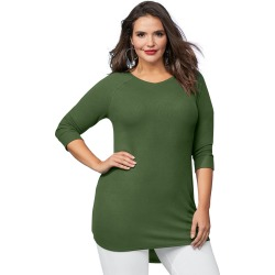 The Ultimate Lounge Tunic Green Knit Tops S
